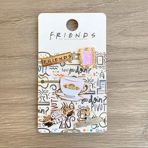 NEW ⭐️ Gold Friends TV Enamel Pins Set of 5